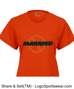 NOT-MARRIED(ORNG) Ladies B-Dry Core Tee Design Zoom