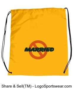 NOT-MARRIED Drawstring Sport Pack Design Zoom