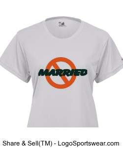 NOT-MARRIED(WHT) Ladies B-Dry Core Tee Design Zoom